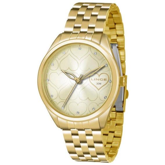 Relógio Lince Feminino Lrg4345lc1kx Dourado