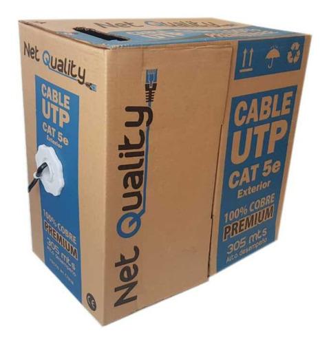 Cable Utp 100% Cobre Cat 5e 305mts Exterior Camaras Redes