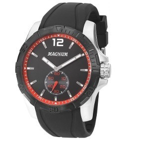Relógio Magnum Masculino Preto Analógico Ma34905v