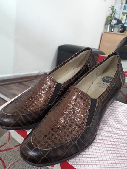 Zapato Piscis Cuero Marrón