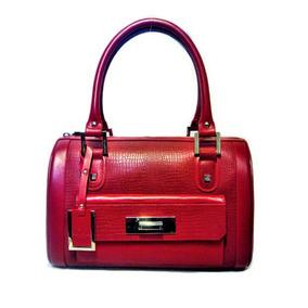 Bolsa Cloe Oe Satchel Piel Leather Bolso Rojo Baak603rojogr