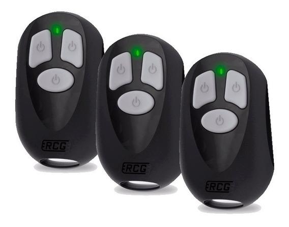 Kit 3 Controle Remoto Rcg P/ Alarme, Potão Eletrônico 433mhz