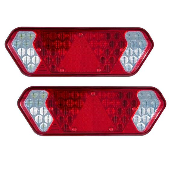 Par Lanterna Led Guerra Vermelha Ou Cristal 12v/24v