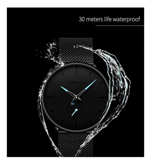 Relógio Masculino Luxo Aço Inoxidável Crrju