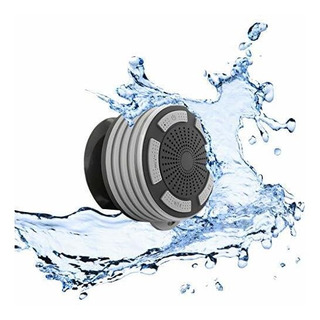 Altavoz De Ducha Bluetooth Resistente Al Agua - Gris