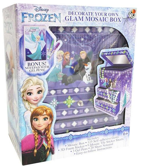 Frozen Caja Joyero Glam Mosaico Para Decocar Con Regalo