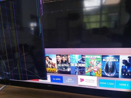 Imagem 1 de 7 de Tv Samsung Un49k5300ag - Tela Quebrada