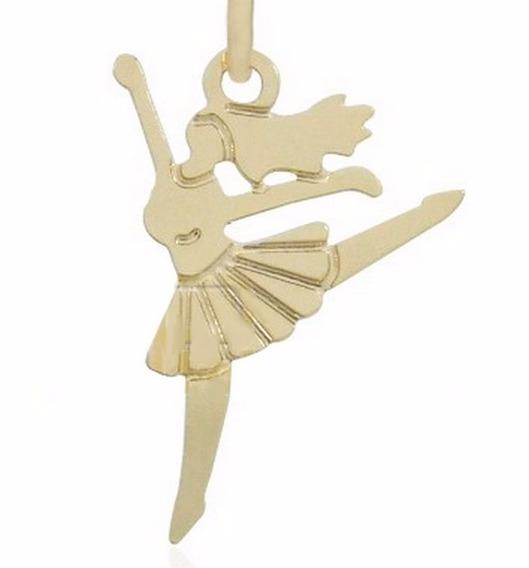 Colar Bailarina Ouro Banhado Com Garantia De 1 Ano