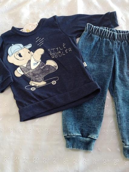 Conjunto Bebê Menino Camiseta E Calça Cottonjeans Upiuli