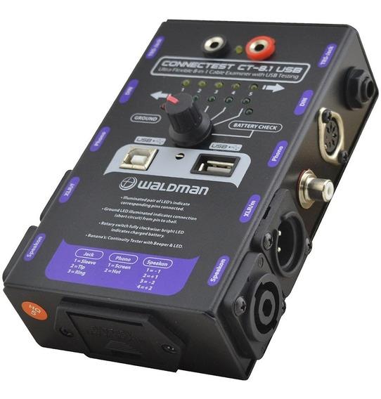 Testador De Cabos Waldman Connectest Ct-8.1 Usb Trs Xlr Rca