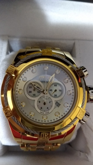 Relógio Invicta Bolt Zeus Todo Banhado A Ouro 18k
