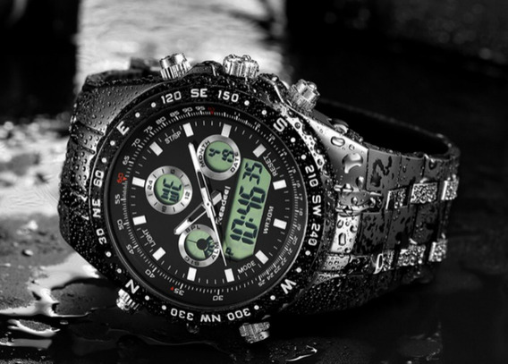 Relógio Masculino Esportivo Militar Readeel Original Luxo