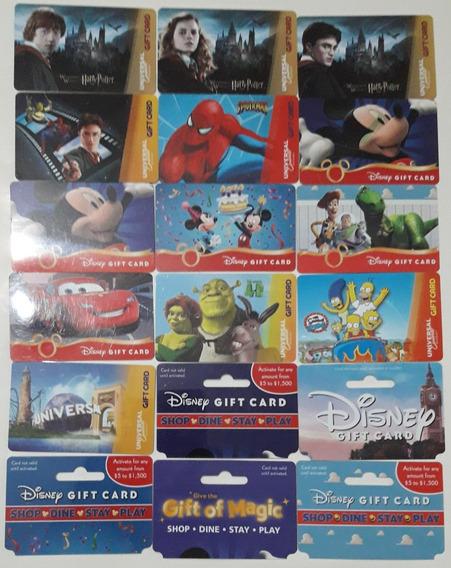 Gift Card Disney World Colección Original Usa Lote X 18