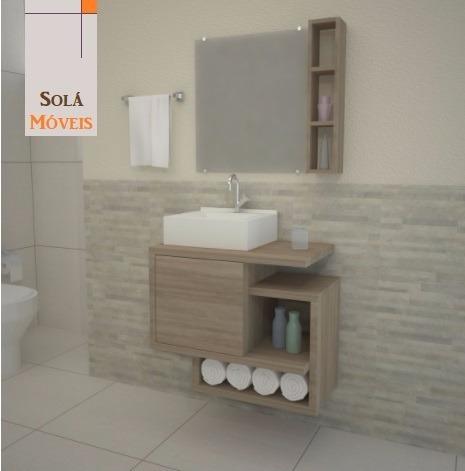 Gabinete De Banheiro Beirut Com Espelho E Pia