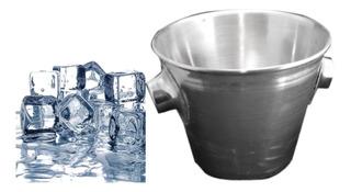 Hielera Bebidas Frias Cubeta Para Hielo De Acero Inoxidable