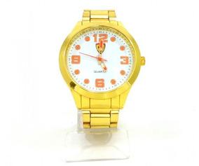 Lote Contendo 5 Relógio Ferrari Dourado