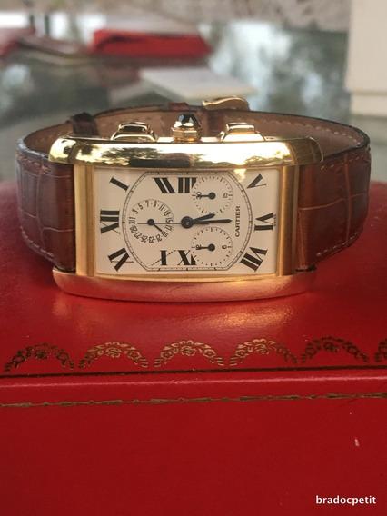 Cartier Tank Cronografo Ouro 18k Estudo Trocas