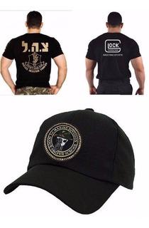 Camiseta Glock Bordada + Boné Sniper + Camiseta Israel +