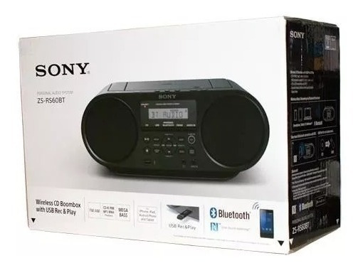 Rádio Sony Cd Boombox Com Bluetooth, Usb, Nfc - Novo
