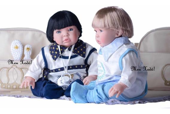 Bebê Reborn Boneco Principe Menino Promoção Bolsa - Unidade