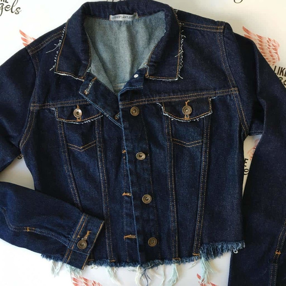 Jaqueta Jeans Cropped Degrant Destroyed Original Denim