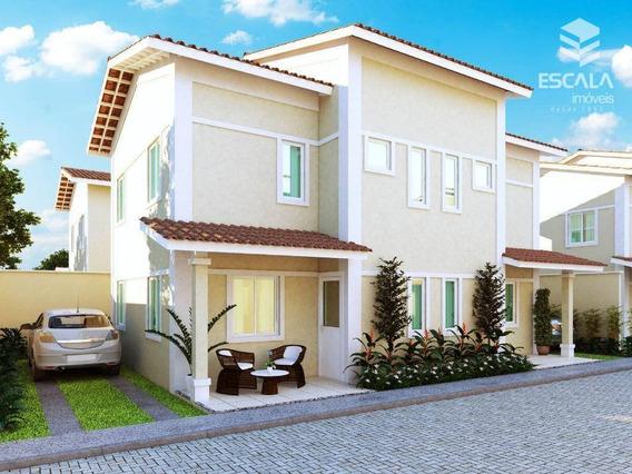 Casa Com 3 Quartos À Venda, 72 M², Nova, Financia, Condomínio Fechado - Mestre Antônio - Caucaia/ce - Ca0175
