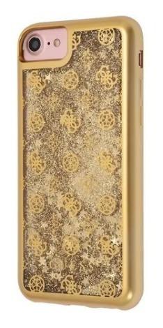 Imagen 1 de 1 de Funda Case Protector Liquid Guess Peony  Glitter iPhone 7/8