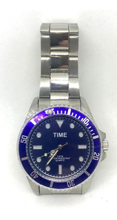 Relojes Time Mod Submariner Metal 3atm Para Hombre Liniers