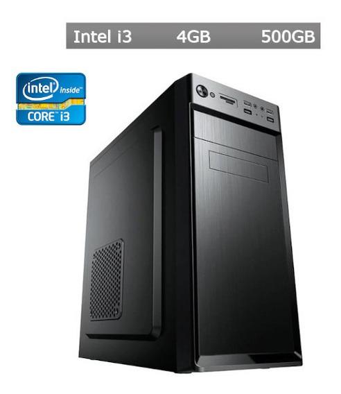 Computador Desktop I3 4gb Hd 500gb + Frete Gratís + Nf