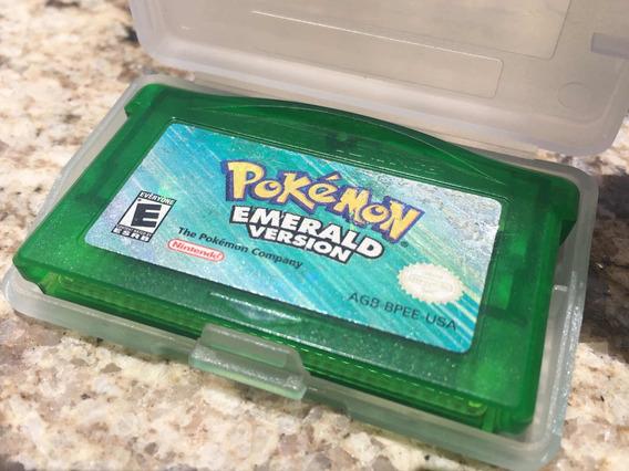 Pokémon Emerald Original Gba Americano Especial Salvando