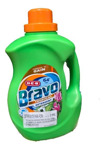 Detergente De Telas Americano 64 Cargas 2.95l Bravo He