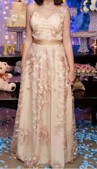 Vestido Debutante Dourado 2 Em 1 Vestidos Femeninos Com O