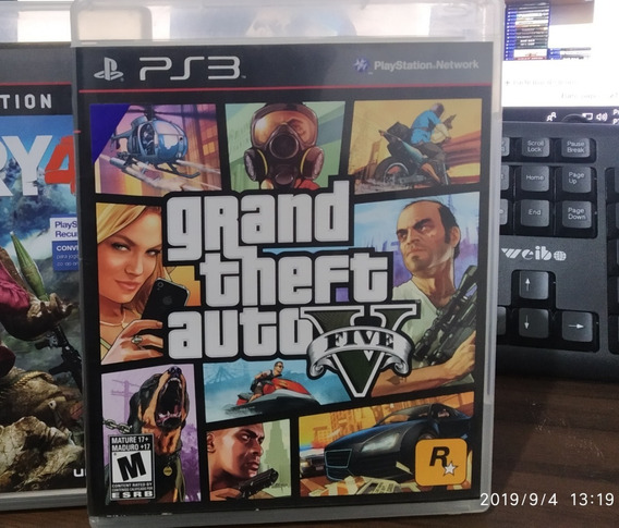 Gta V Original Mídia Física Para Playstation 3 ( Ps3)