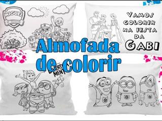 Canetinha Lavavel Almofada Colorir No Mercado Livre Brasil