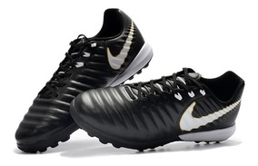 Chuteira Society Nike Tiempo Lunar Legend 7 Pro Preto+branco