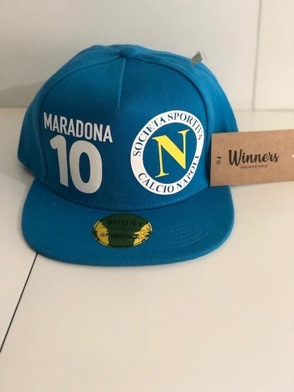 Gorra Plana Snapback Maradona #10 Napoli Envio Gratis