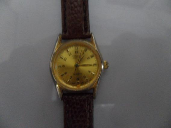 Relógio Dourado Citizen Quartz Feminino Made Japan Caixa20mm