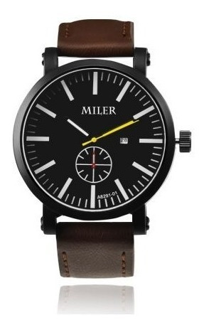 Relógio De Pulso Casual Masculino Miler A8291-01 Original