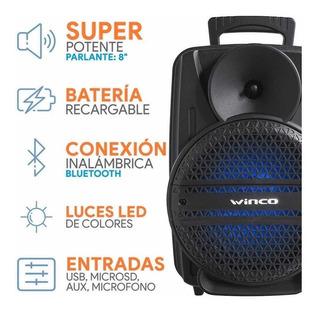 Parlante Winco 8 Pulgadas Karaoke Con Envío Gratis