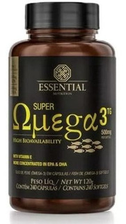 Super Ômega 3 Tg 500mg 240 Caps Oferta Essential Nutrition