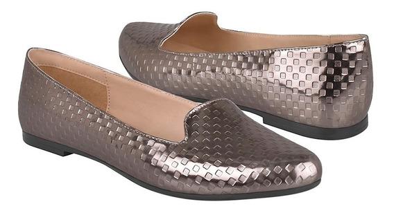 Zapatos De Piso Para Mujer Stylo 152 Simipiel Humo