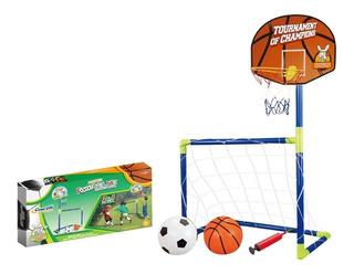 Set 2 En 1 Futbol Y Basquet - Planet Toys