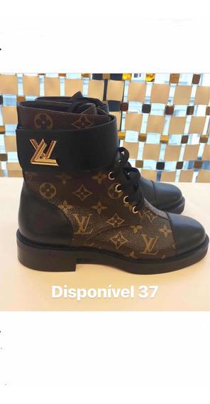 Bota Salto Baixo Louis Vuitton