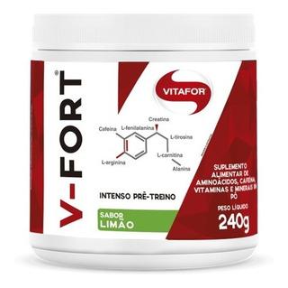 V Fort Pré Treino Intenso Vitafor 240g - Com Creatina