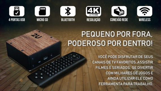 Mini Pc 2u - Raspberry Pi 3b 32gb E Acessorios