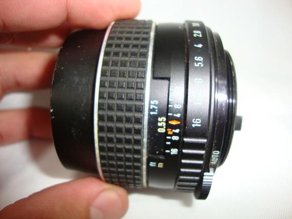 Lente Takumar 1:1.8/55 Smc Asahi Pentax Camera Antiga