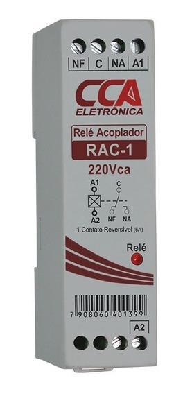 Relé Acoplador Interface 220 Vcc Vca C/ 1 Contato Reversível
