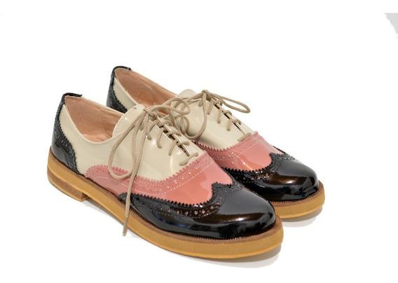 Acordonados,abotinados,mujer - Charol - Zapatos Morr 220ja