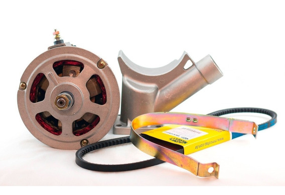 Kit Alternador Fusca Kombi Brasilia 75 Amp Novo Modelo Bosch