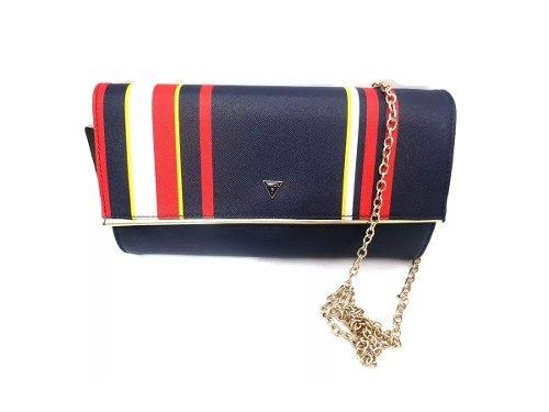 Bolsa Feminina Guess Azul, Vermelha E Branca + Frete Grátis